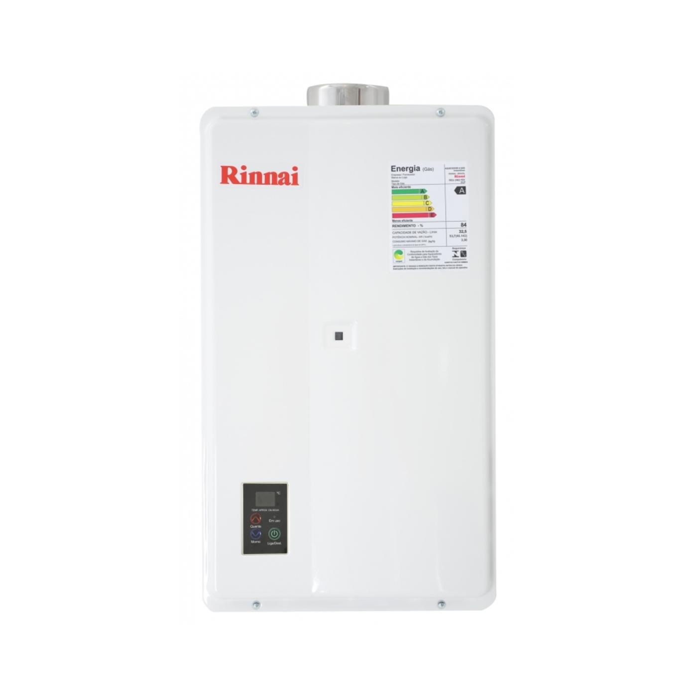 Água a Gás Rinnai 32 5 Litros Digital REU 2402 FEH FRETE GRÁTIS #B7AF14 1400x1400 Balança Digital Banheiro Frete Grátis