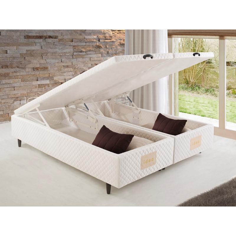 Cama Box Ba 250 Herval Idea Branco Mh 1800 Queen Size